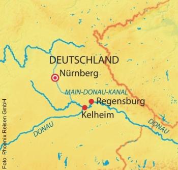 Route Nürnberg-Kelheim-Regensburg -Nürnberg