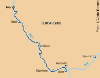 Route Weihnachtsmärkte ab Köln