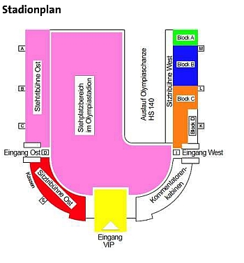 Stadionplan Olympiaschanze
