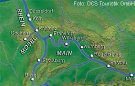 Route Silvesterkreuzfahrt Rhein MS Alemannia