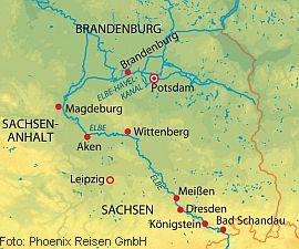 Route Elbekreuzfahrt Silvester MS Saxonia