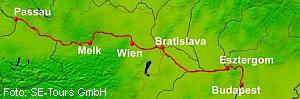 Weihnachten Route Passau - Budapest - Passau