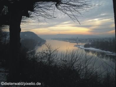 Rheinblick im Winter